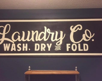 Laundry Co. Wood Sign