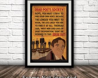 Dead Poets Society-Inspired Movie Poster - Fan Art, Minimalist