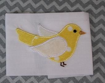 Baby Applique Machine Embroidery Design Baby Bird