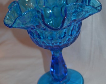 Fenton Colonial Blue Compote or Candy Dish