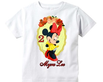 Minnie Mouse Birthday Shirt Youth Toddler Infant Adult  p315