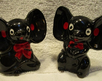 Black Mouse Salt and Pepper Shakers (1171)