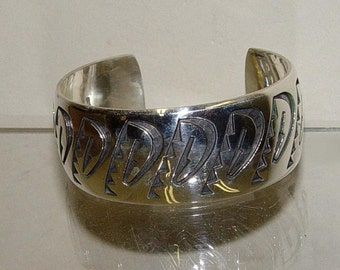 Floyd Namingha Clouds Sterling Bracelet American Indian 925