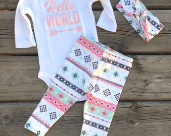 Newborn Outfit, Baby Take Home Outfit, Baby Girl Outfit, Baby Boy outfit, Baby Leggings