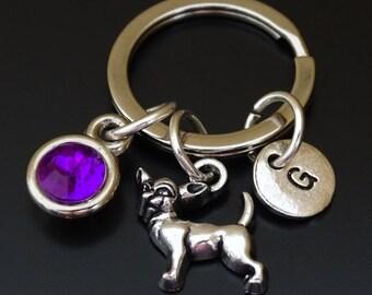 Chihuahua Keychain, Custom Keychain, Custom Key Ring, Chihuahua Pendant, Chihuahua Charm, Chihuahua Lover, Chihuahua Jewelry, Dog Keychain