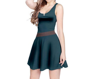 Merida Brave Inspired Skater Dress