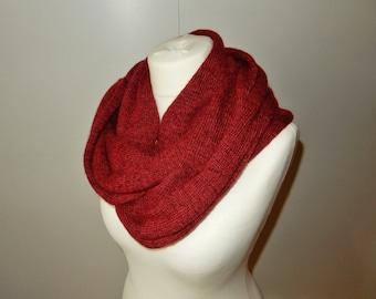 melange wool Shawl Wool knits Red Black scarf trendy knitwear infinity scarf wool shawls Wraps winter scarves wrap clothing knit garment