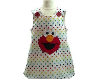Girl  Elmo dress girl a line Elmo dress toddler Elmo dress toddler Aline Elmo dress baby dress girl dress girl a line dress jumper dress