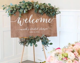 Welcome Sign - Bridal Shower Welcome Sign - Baby Shower Welcome Sign - Engagement Pary Sign - Wedding Signs - Wooden Wedding Signs - Wood