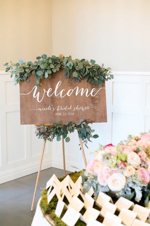 Welcome sign bridal shower welcome sign baby shower for Welcome home decorations for baby