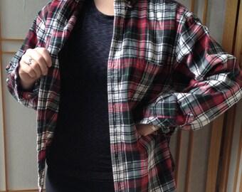 Vintage Flannel Shirt Beautiful Flannel Shirt Small Vintage Red Plaid Black Plaid Hanna Andersson Lumberjack Flannel