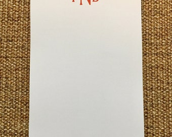 Monogrammed Notepad - Personalized - Father's Day Gift - Office - Desk - Custom - Name - 3.67x8.5 - 5.5x5.5 - 5.5x8.5