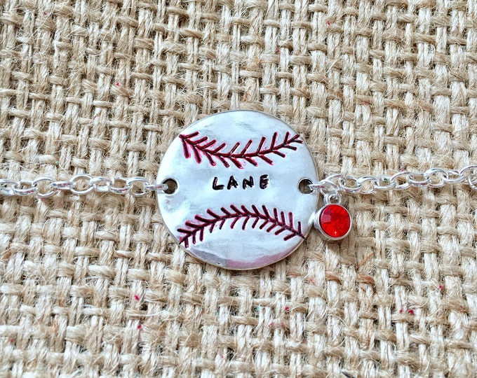 Baseball Bracelet, Custom Team Bracelet, Team Mom Bracelet, Baseball Mom Jewelry, Team Name Bracelet, Custom Mom Bracelet, Name Bracelet