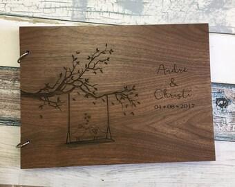 Unique Wedding Guest Book | Wood Guest Book | Engraved Wedding Guest Book Alternative | Wooden Guest Book | Personalized Wedding Guest Book