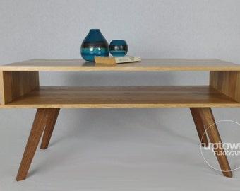 Mid century coffee table/reclaimed wood coffee table/wood coffee table/recycled wood coffee table/mid century modern furniture/retro table