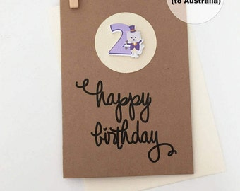 2nd Birthday Card – 2nd Happy Birthday Card – Age 2 Happy Birthday Card – Second Happy Birthday Card – Happy 2nd Birthday Card