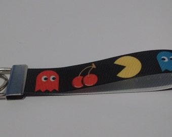PAC-MAN Key Fob Keychain Wristlet