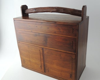 20's Japanese vintage wooden small drawer with handle