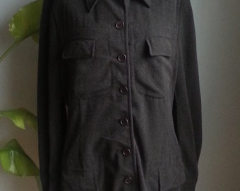 vintage wool viscose jacket