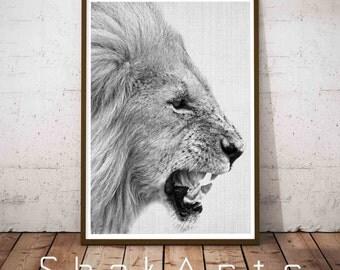 Lion Prints Digital, Safari Wall Decal, Nursery Minimal Art, Jungle Wall Decal, Woodlands Print Set, Nursery Safari Decor, Jungle Decal
