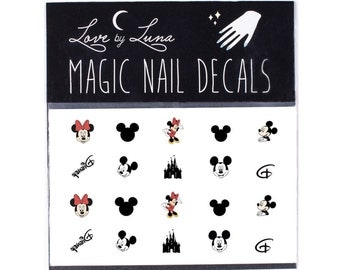 Disney Nail Decals / Disney Nails / Mickey Mouse Nail Decals / Minnie Mouse Nail Decals / Mickey Mouse Nails / Walt Disney Nails