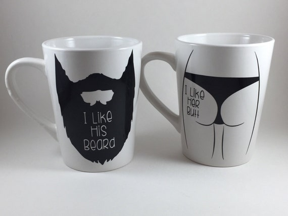 His And Her Wedding Gifts Ideas : His and Hers Mug Set - His and Her Gift - Wedding Gift - Couples Mugs ...