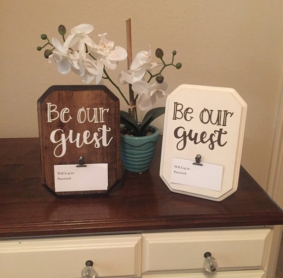 Guest Room Sign Decor: Wifi Password Sign Guest Room Decorbe Our Guest Wireless