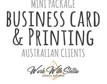 Mini Package Business Card & Printing Australian Customers 420GSM 250 Cards