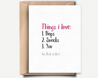 I Love You Card, Love Card, Anniversary Card Funny, Boyfriend Gift, Birthday Card Girlfriend, For Him, For Her, Funny Anniversary Gift