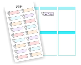 Meal Planning Stickers / Meal Prep Stickers / Meal Tracker / Page Flags / Colorful Pastel Stickers | D1