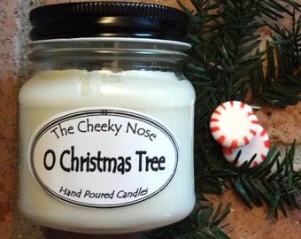 Christmas Tree Candle, Soy Candle, Tree Candle, Spruce Candle, Holiday Candle, Scented Candle, Scented Soy Candle, Jar Candle, Frasier Fir