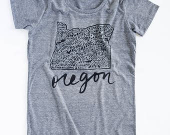 Oregon Womens T-shirt | Graphic Tee for Women | Gift for Her | Womens Clothing | Anniversary Gift | Funny Shirt | Mothers Day Gift