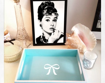 Tiffany & Co wooden tray in Classic Blue