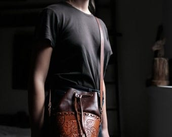 Tooled Leather Purse | Vintage | Handmade