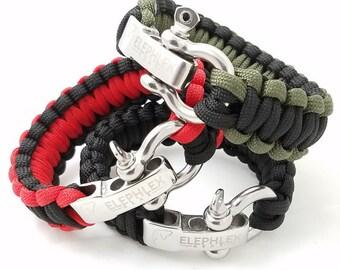 "ELEPHLEX Gear 9"" COBRA Paracord Survival Bracelet 550lbs"