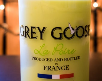 Grey Goose La Poire Liquor Bottle Soy Candle - Brandied Pear
