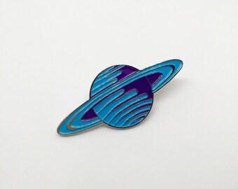 Blue Saturn lapel / enamel pin