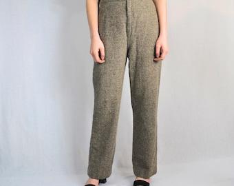 Vintage Jack Winter Tweed Wool Pants size 25