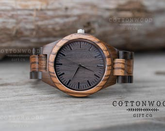 Personalized Mens Watch, Engraved Wooden Watch, Mens Natural Wood Watch, Personalized Mens Gift, Husband Gift, Boyfriend Gift, Groom Gift