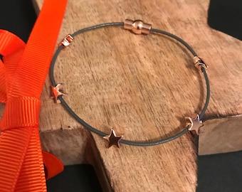 Elegant Rose Gold Star Bracelet
