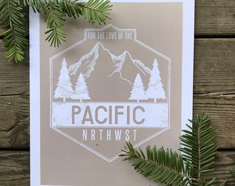 for the love of the pnw - cream - wall art - wall decor