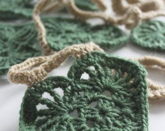 Handmade Crochet Heart Bunting, Garland, Decoration, Wall Hanging, Banner Valentines Love