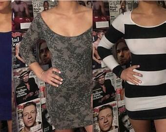 Bodycon t shirt dresses! Blue, stripes, lace
