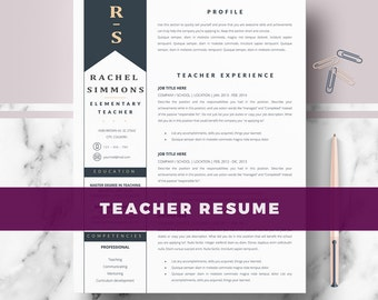 Resume References Template Teacher Resume  Etsy Google Resume Word with Sample Resume With No Job Experience Word  Top Resume Formats