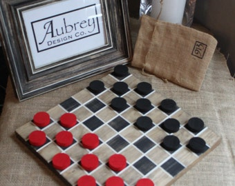 Draughts (Checkers) & 12 Men's Morris