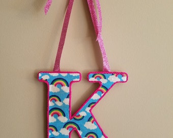 Monogram Door Hanger, Nursery Decor, Initial Door Hanger, Girls Decor, Children's Decor, Home Decor, Monogram Home Decor