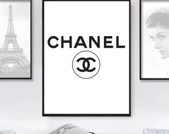 Coco Chanel print, Coco Chanel quote, chanel logo, Chanel print, Fashion Print, Fashion Typography, Fashion Logo, Brand Sign, Fashion Poster