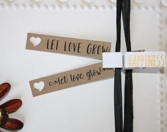 Kraft Let Love Grow tag // Engagement Bridal Shower Favor // Wedding Favor tag // Seed Favor