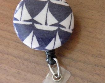 Sailboat badge holder