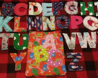 Handcrafted Fabric Alphabet A-Z with bag
